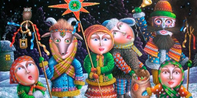 прикольные колядки на старый новый год для детей